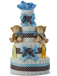 twins boys 4 tier diaper cake baby shower diaper cakes unique