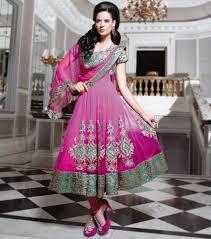 anarkali wedding dress fushia and emerald bridal anarkali sai indian saree