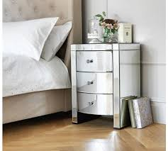 buy heart of house canzano 3 drawer mirrored bedside chest at