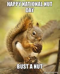 Bust A Nut Meme - happy national nut day bust a nut make a meme