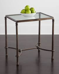 glass top end tables metal hanigan glass top end table