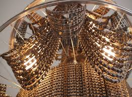 Metal Chain Chandelier Recycled Bike Chain Chandelier Dripping With Repurposed Parts