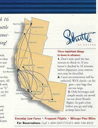 Ua Map Shuttle By United Route Map April 1995 The Shuttle By Uni U2026 Flickr