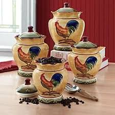 set of 3 roosters u0026 sunflowers kitchen canisters colorful kitchen