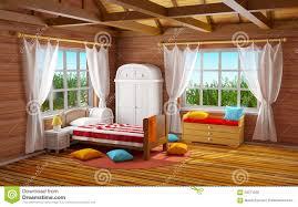 Wooden Bedroom by Fantasy Wooden Bedroom Stock Illustration Image 63071560