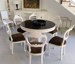 Baroque Coffee Table by Shabby Chic Baroque Round Dining Table With Six Chairs Luigi