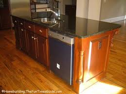kitchen island with kitchen islands with sink and dishwasher