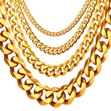 long chunky chain necklace images U7 cuban link chain men gold color stainless steel hiphop long jpg