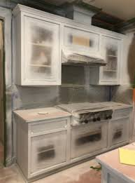 professional spray painting kitchen cabinets cabinet painting onsite painting versus removal to spray