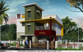 Row House Front Elevation - front elevation service provider from chennai