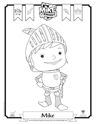 mike the knight mike coloring page by jackandannie180 on deviantart