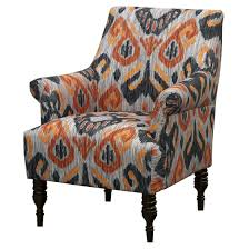 Target Living Room Chairs by Candace Arm Chair Ikat Gray Orange From Target Center Room