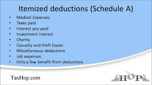 itemized deductions schedule a youtube