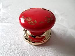 red kitchen cabinet knobs drawer pulls handles ceramic cabinet knobs kitchen door knob