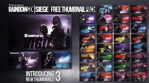 siege free rainbow six siege thumbnail template artificialcreations