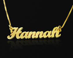 Gold Custom Name Necklace Tiny Name Necklace Etsy