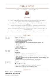 Music Resume Example by Stay At Home Mom Resume Samples Visualcv Resume Samples Database