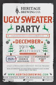 ugly sweater christmas party heritage brewing co