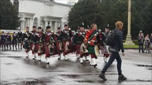 combi orchestra of scottish pipers and drummers army bagpipe