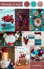 plum cranberry cream gold wedding colour scheme fall