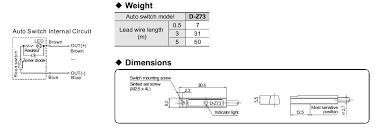 d z73 magnetic sensor switch for smc pneumatic cylinder buy