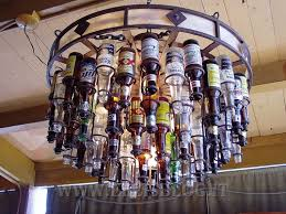 Beer Bottle Chandelier Diy Recycle A Chandelier Made Of Bottles Inutility Home U0026 Fashion