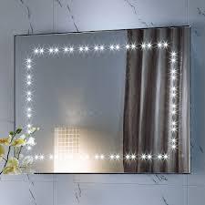 bathroom vanity mirror with lights white varnished wooden vanity