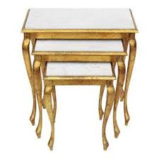 marble top nesting tables vintage used marble nesting tables chairish
