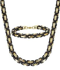 chain set necklace bracelet images The tribal set black and gold south central apparel jpg