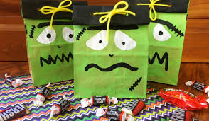 frankenstein halloween treat bags isavea2z com