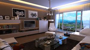Bachelor Pad Bedroom Interior U0026 Architecture Elftug White Taupe Living Room 3d Front