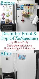 top of fridge storage how to declutter refrigerator front top
