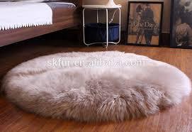 tappeti di pelliccia rotondo e di spessore capelli lunghi tappeto di pelliccia di