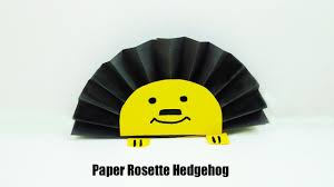 easy paper rosette hedgehog simple and fun fall craft idea for