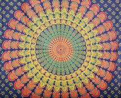 Wall Tapestry Hippie Bedroom Indian Peacock Mandala Boho Bohemian Hippie 100 Cotton Tapestry