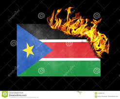 Old Sudan Flag Flag Burning South Sudan Stock Image Image Of Flag 102080703