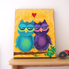 owl simple painting images reverse search
