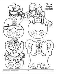 circus puppets finger puppet templates da ara finger puppet