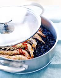 comment cuisiner les gambas riz noir calamars et gambas pour 6 personnes recettes à table