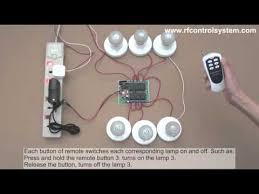 wireless remote control light switch 6 channel dc rf remote control switch 6 lights on and off youtube