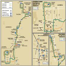 Pierce College Map 603 605 612 Intercity Transit