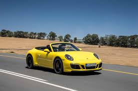 yellow porsche 911 2017 porsche 911 carrera gts first drive review automobile magazine