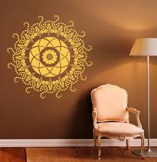 aliexpress com buy round mandala wall decal indian pattern vinyl aliexpress com buy round mandala wall decal indian pattern vinyl stickers namaste yoga home interior design art murals bedroom decor from reliable bedroom
