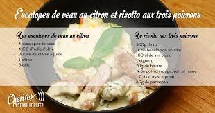 cuisiner le c eri escalopes de veau au citron et risotto chéri e c est moi le