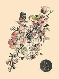 flower sugar skull drawing clipartxtras