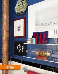 nautical themed bathroom ideas before after nautical themed bathroom makeover water pipes