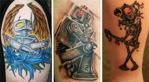 robot tattoos awesome works of mechanical body art urbanist