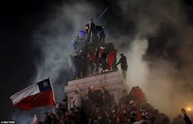 chile fans cause chaos in santiago as they celebrate copa america