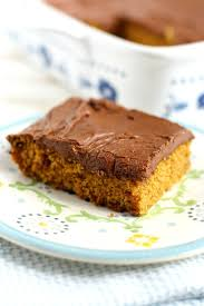 pumpkin sheet cake with chocolate frosting vegan gluten free