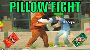 Pillow Fight Meme - mlg pillow fight youtube